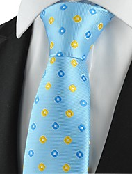 Motivo a quadri blu dorato Mens Tie formale Cravatta Wedding Souvenir
