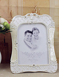 """7.75 """"Cadre H style européen blanc Polyrésine Photo"""