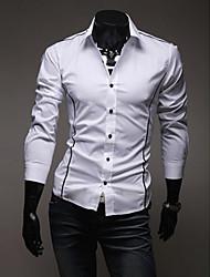 Blanc Fit de A & W Hommes coupe-shirt manches longues Loisirs