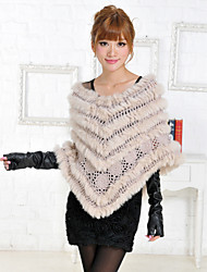 Fur Wraps / Hoods & Ponchos Ponchos Sleeveless Feather/Fur Gray / Beige Party/Evening / Casual Pullover