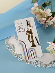 Trombeta dourada Bookmark com Hide Rope