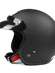 matte black-4 ABS-Material Motorrad Halbschalenhelm