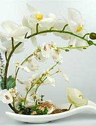 """10.5 """"orchidées h de style artistique à disposition de vase en céramique"""