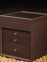 Simple Style Dark Brown Wooden Storage Cabinet