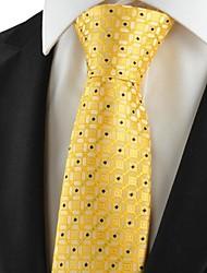 Nouveau graphique jaune hommes de cravate de costume pour le cadeau de vacances de noce