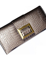 Mega Classic Patent Leather Long Wallet(Silver)