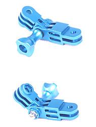 ЧПУ Алюминиевый Синий GoPro Гора Трехходовой поворотный рычаг Набор