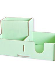 Creative Light Green Wooden Desktop Storage Shelh
