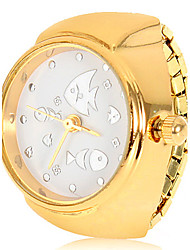 Women's Fish Pattern Alloy Quartz Analog Ring Watch (Assorted Colors)