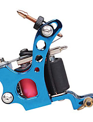 10 Wrap Dual Coils Long and Short Tattoo Machine for Shader(Blue)