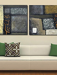 Stretched Canvas Print Art Abstract Mural Set of 2