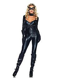 Costumes de Cosplay / Costume de Soirée Déguisements Thème Film/TV Fête / Célébration Déguisement Halloween Noir Couleur PleineCeinture /