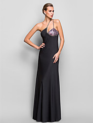 Formal Evening/Military Ball Dress - Multi-color Plus Sizes Sheath/Column One Shoulder Floor-length Jersey