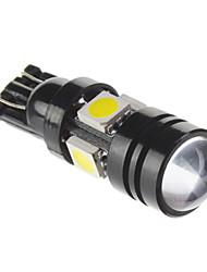 T10 7W 490lm 6000K 5x5050SMD fraîche Ampoule LED lumière blanche pour la voiture (12V, 1 pc)
