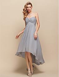 A-line Sweetheart Asymmetrical Chiffon Cocktail Dress 929971