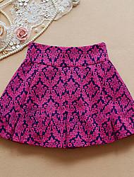 Women's Princess Vintage Pattern High Waist Skirt