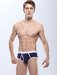 Manview Men'S Royal Blue Sexy Lycra Cotton Bamboo Fiber Low Waist Brief Underwear