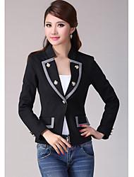 YLAS Double-Breasted Slim Blazer(Black)
