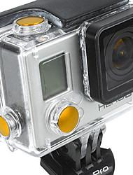 Accesorios GoPro Botón Para Todo aleación de aluminio amarillo