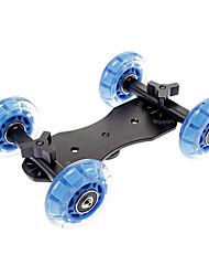 Boden Tabelle Video Slider Spur Dolly Auto für DSLR-Kameras - Schwarz + Blau