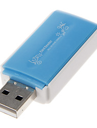 4-en-1 USB 2.0 Multi-Card Reader (Bleu)