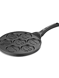 Smiley Face Pancake Mold, Metal Diameter 30cm, Length 45cm