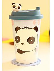 Verticale Bear e Panda Testa tazza di caffè in porcellana 16 once