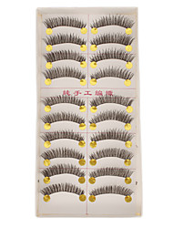 Hand-made Natural False Upper Eyelashes E-1