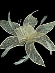 Femme Tissu Casque-Décontracté Fleurs