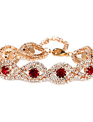 Victoria Czech Crystal Golden Plated Chain Bracelet Jewelry