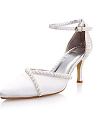 Feminino Wedding Shoes Saltos/D'Orsay/Bico Fino Saltos Casamento/Festas & Noite Marfim/Branco