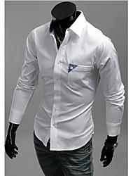 Men's Bright Color Slim Long Sleeve Shirt