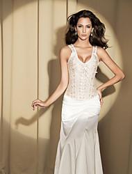 Classique Jacquard Zipper Et lacets de corset shapewear