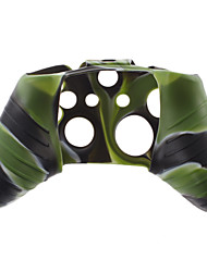 Silicone Skin Case and 2 Black Thumb Stick Grips for XBOX ONE (Hunter Green)