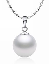 Sterling Silver élégant avec le collier de perle pendentif femmes