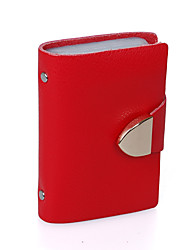 Mega Fashion Leather Lovers Card Holder (Red)