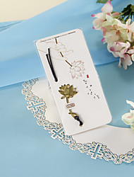 Golden Lotus Bookmark com Hide Rope