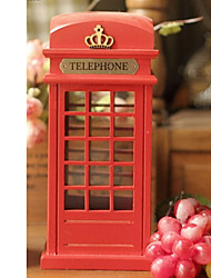 "8.75""H European Style Telephone Booth Collectible"