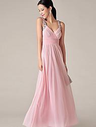 Damen Kleid Party Maxi Chiffon