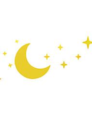 Miroir Stickers, lune de nuit et Shining Stars