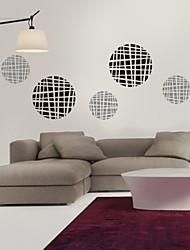 Geometric Round Plaid Decorative Wall Stickers