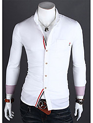 DD Wear Casual Contrast Color Shirt(White)