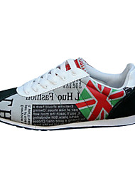 Men's Shoes Canvas Black/Green/Gray