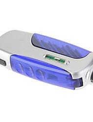 Многофункциональный светодиодный фонарик с правителем и Инструменты (3xLR41, серебро + синий)