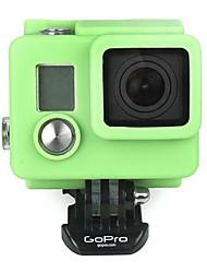Funda de silicona verde para GoPro HD Hero 3/3 Plus