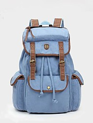 Unisex Canvas Casual Backpack Blue / Yellow / Brown / Gray