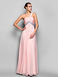 TS Couture Formal Evening / Prom / Military Ball Dress - Blushing Pink Plus Sizes / Petite A-line / Princess One Shoulder Floor-length Chiffon