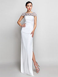 TS Couture Formal Evening Military Ball Dress - Elegant Sheath / Column Strapless Ankle-length Georgette with Split Front