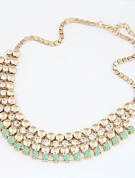 Женская Euramerican Мода Gemmy Смола Многослойная ожерелье