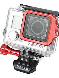 GoPro Aluminum Red LANYARD RING Mount with Hidden Screw Design for 3 Plus / 3+